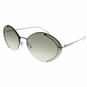 Prada Oval Grey Gradient Silver Mirrored Lens